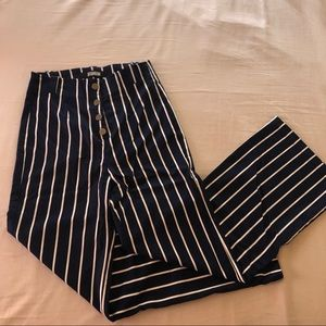 Reformation high waisted flare striped pants